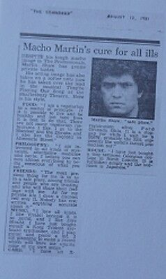 The Professionals Doyle Martin Shaw Interview His Car / House / Philosophy 1981