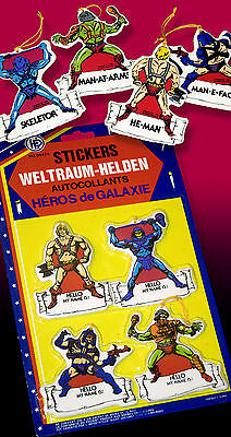 Masters Of The Universe He-Man Sticker Ovp 1984 Mattel