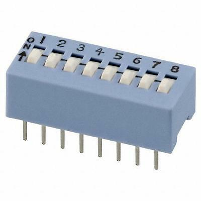 CTS 206-8 Dip Switch 8 Position Slide Light Blue SPST 50MA 24V QTY = 3