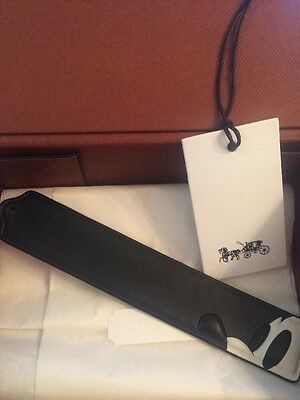 Disney X Coach Mickey Profile Leather Bookmark. Limited Edition!  Style No: 6651