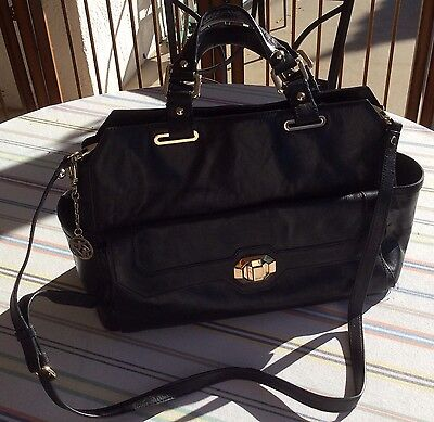 DKNY Black Leather Women's Business Bag Nice Bag/Features 743112107 MSRP $365