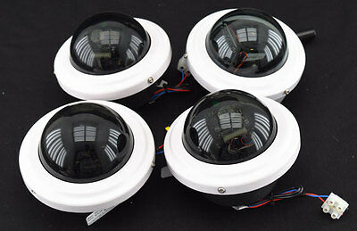 4x Pelco ICS50 In-Ceiling Color WDR Camclosure Security/Surveillance Dome Camera