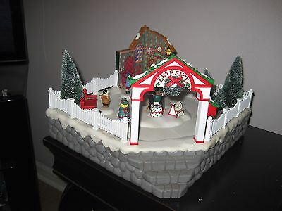 Department 56 Snow Village Animated PHOTO WITH SANTA 52790 TESTED  *SEE VIDEO*