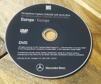 2016 Mercedes NTG2 DVD Europe v17 Comand APS road map update navigation disc