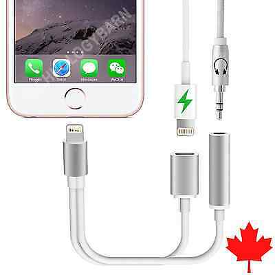 iPhone 7 & 7 Plus 2 in 1 Lightning to 3.5mm Headphone Jack Adapter Charger Cable