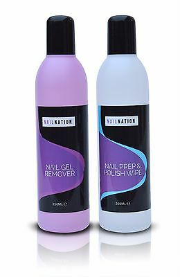 Nailnation Nail Gel Prep & Wipe Cleanser + Remover