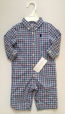 New With Tag Ralph Lauren Polo Baby Boy Romper ( One Piece)