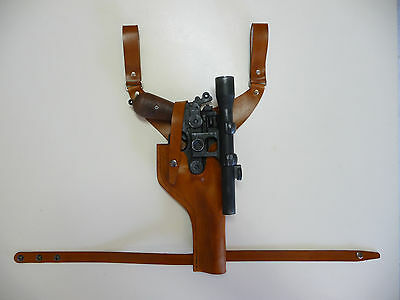Star Wars Brown DL-44 drop LEATHER HOLSTER Pilot officer ANH Han Solo blaster