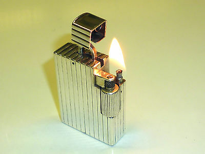 Cartier Paris Silver Liftarm Wick Lighter - Feuerzeug - 1930/40 - Made In France