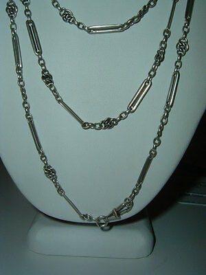 Antique French 925 French Long Guard Muff Chain