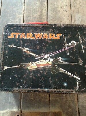 Vintage 1977 Star Wars Lunchbox  / Thermos Brand / 20th Century Fox Corporation
