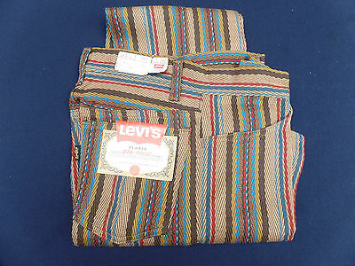 Vintage Levis Flares Multi Color Strips New W/tag Mod 70's Classic Whooo!!