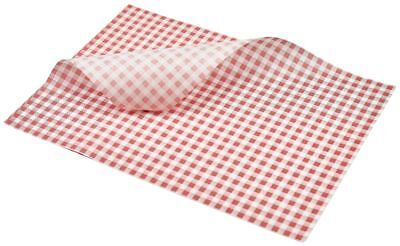 Greaseproof Paper Sheets Red Check Burger Wrap 25x 20cm (1000 sheets)