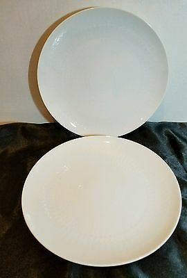 "Rosenthal  Romance White 9.75"" luncheon Plate set of 2"