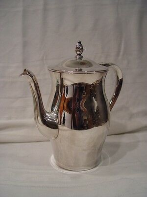 Vintage Wm. Rogers & son Paul Revere reproduction silverplated coffee pot