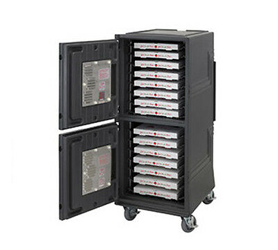 """Cambro CMBPHHD Combo Cart Plus Electric Heated Cabinet Insulated 6"""" Casters"""