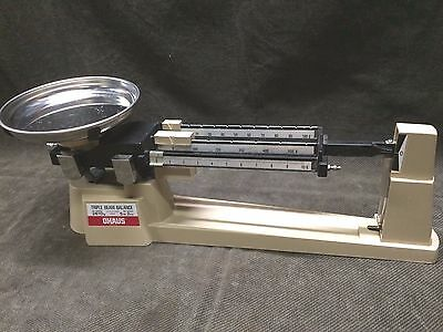 Ohaus Triple Beam Scale 700 Series 2610G 800 Series -5Lb 2 Oz Capacity -  Tan