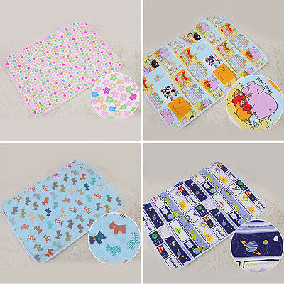 3 Layers Cartoon Pattern Urine Mat Cover Burp Baby Changing Pad EVA Waterproof