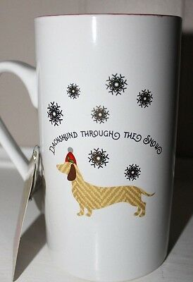 Dachshund Through The Snow Christmas Coffee Cup Mug 16oz