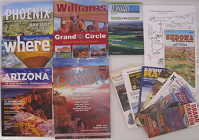 Various Arizona & Grand Canyon Travel Guides & Maps ~ Excellent Condition ~ USED