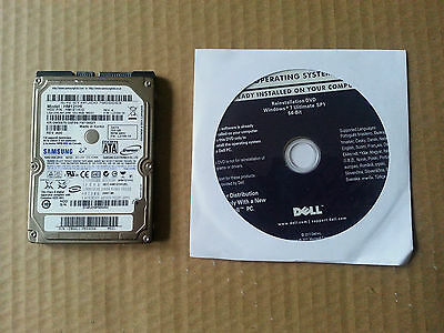 Dell Windows 7 Ultimate 64 Bit Reinstallation DVD With Hard Drive
