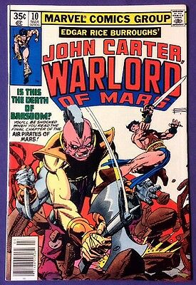 JOHN CARTER WARLORD OF MARS 10 March 1978 8.5-9.0 VF+/NM- MARVEL COMICS GIL KANE