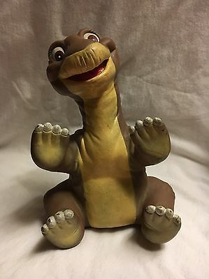 Vintage 1988 Pizza Hut Land Before Time Little Foot Rubber Dinosaur Hand Puppet