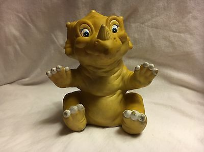 Vintage 1988 Pizza Hut Land Before Time Cera Rubber Dinosaur Hand Puppet