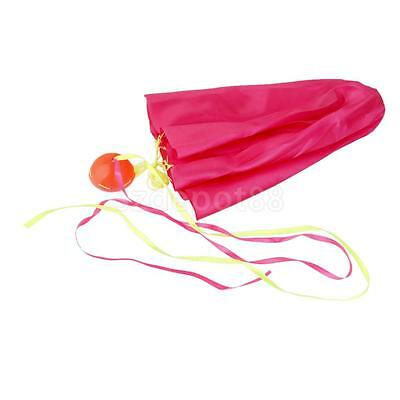 Rose Red Mini Hand Throw Parachute Kids Children Funny Outdoor Toy Game Gift