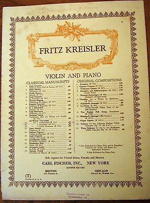 Vintage Copyright 1910 Sheet Music - Liebesfreud for Violin