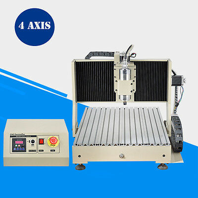 800W 4 Axis Cnc 6040 Router Drilling&milling Engraver Machine 3D Engraving Mach3