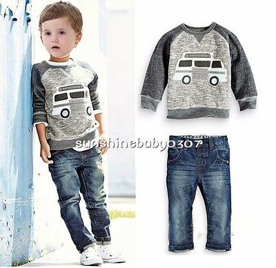 Baby clothes KIDS boys clothes fall spring clothes sweater top &jeans outfits