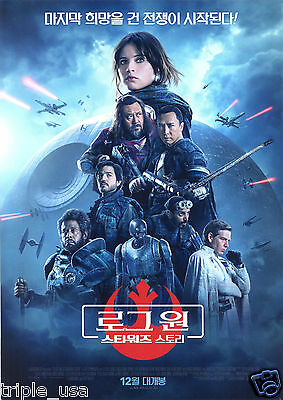 Korean Movie A4 Poster Flyers : Rogue One : A Star Wars Story