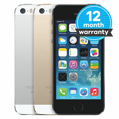 "Apple iPhone 5S- 16 32 64GB GSM ""Factory Unlocked"" Smartphone Gold Gray Silver E"