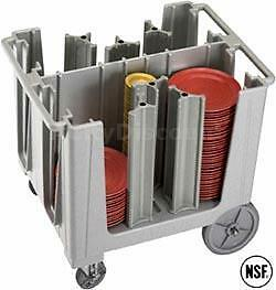 Cambro ADCS Adjustable Dish Caddy w/ 6 Dividers Holds Up To 360 Plates