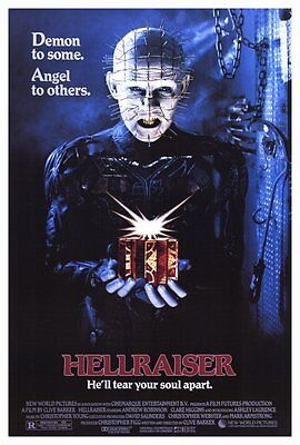 Hellraiser (1987) movie poster reproduction single-sided rolled