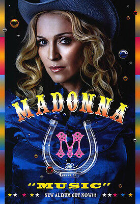 Madonna - Music (2000) original promo poster single-sided rolled