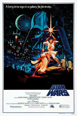 Star Wars (1977) movie poster style C reproduction single-sided rolled