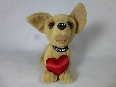Yo Quiero Taco Bell Chihuahua Dog with Heart Growl Sound Collectible Stuffed Toy