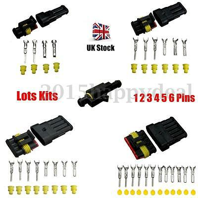 Car Boat Electrical Waterproof Connector 1 2 3 4 5 6 Pin Way Seal Wholesale Kits