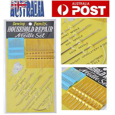 27pcs Home Use Sewing Repair Needles Kit Carpet Leather Curved Canvas Pack