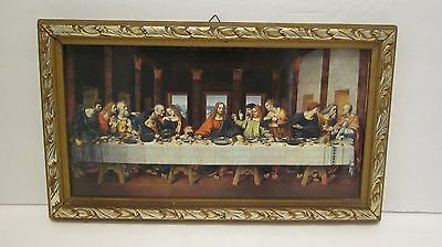vintage 3D  Last  Supper  picture  Made in  Holland  list of  participants