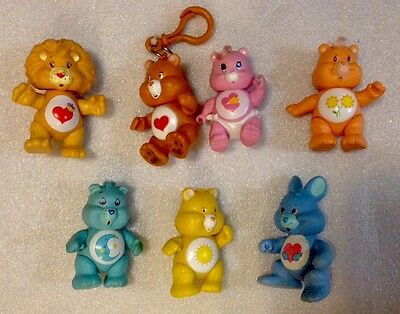 Care Bear Plastic 80s Toy  7 Figures
