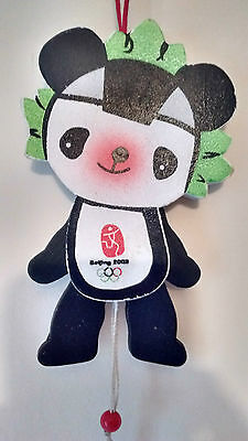 Beijing 2008 Olympic Wooden Mascot Jumping Jack Baby Pull Toy