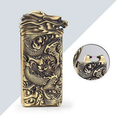 USB Electric Rechargeable Arc Pulse Flameless Cigar Lighter Torch Dragon Gift