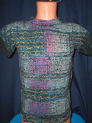 Vtg 80s Morey Boogie T-Shirt Sz Youth Large All Over Print Surf Rare Made In USA