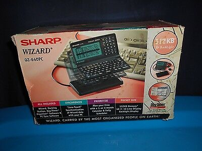 Sharp Wizard OZ-640PC Read BOX AND ACCESSORIES ONLY No Unit Included