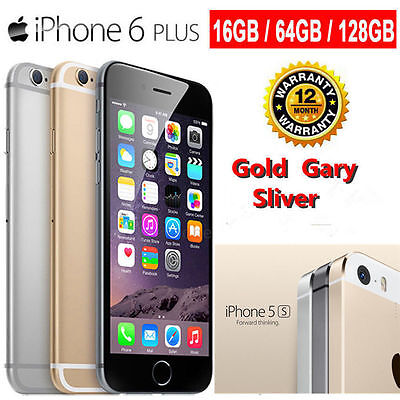 Apple Iphone 6/5S/4S Factory Unlocked Smartphone Gsm 16Gb Gray Gold Silver Er