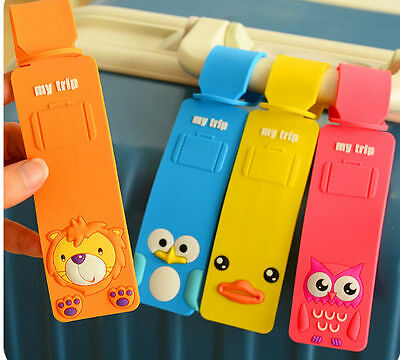 Animals Pattern Travel Luggage Baggage Suitcase Tags Name Address ID Bag Label