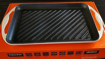 Le Creuset Cast Iron Rectangular Grill Almond / Dune (used once)